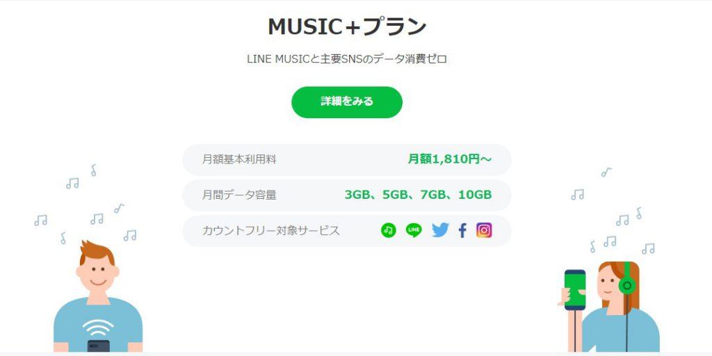 音楽とSNS好きにおすすめで安いLINE MUSICと携帯料金プランを合わせたプラン