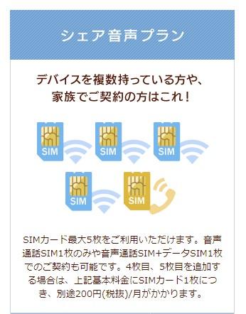 イオンモバイルのシェア音声プランで家族の携帯料金が安くなる