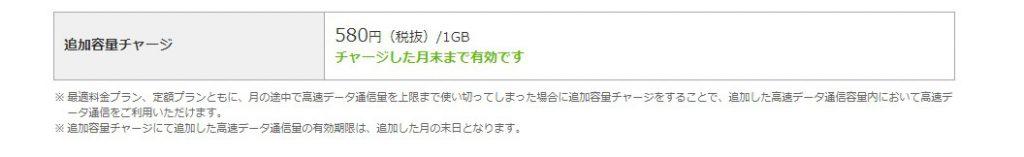 エキサイトモバイルのデータ容量追加は格安
