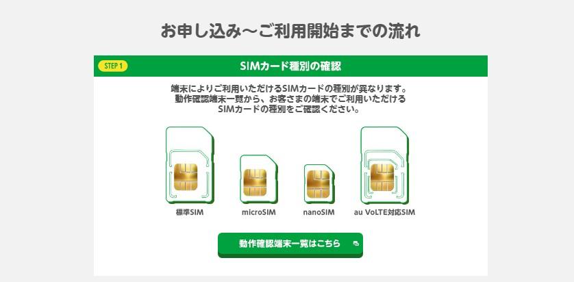 mineo(マイネオ)で使うSIMカードの形状をチェック
