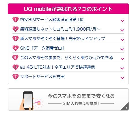 UQモバイルの申し込み方法と手順